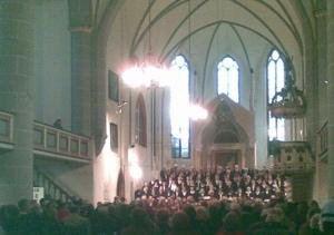 Der Havelberger Kantatenchor beim Konzert am 16. Oktober 2010 in der Stadtkirche - Die Schöpfung.