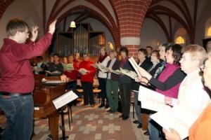 Kantatenchorprobe mit Domkantor Matthias Bensch