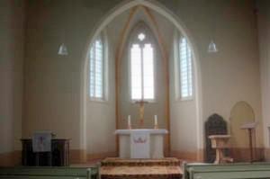 Innenansicht der Jederitzer Kirche 2008