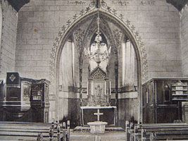Innenansicht der Jederitzer Kirche um 1930