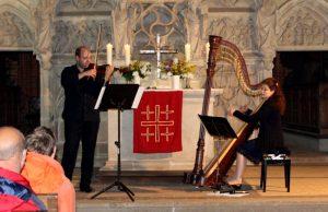 Duo 51 - kurzweiliges Konzert mit Harfe und Violine.