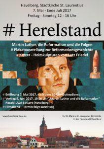#HereIstand - Ausstellung in der Havelberger Stadtkirche - Luther, die Reformation und die Folgen