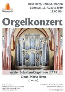 Havelberg Orgelkonzert 11.08.19