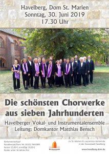 Erleben Sie am 30. Juni 2019 das Havelberger Vokal- und Instrumentalensemble - Die schönsten Chorwerke aus sieben Jahrhunderten
