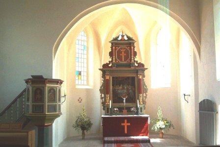 Nitzow - Altar der Kirche