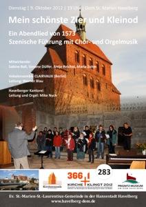 """366+1: Kirche klingt 2012 – """"Mein schönste Zier und Kleinod"""" im Havelberger Dom"""