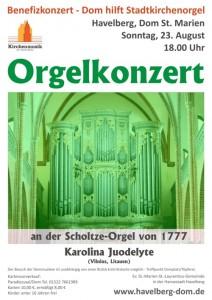 Dom hilft Stadtkirchenorgel – das dritte Benefiz-Orgelkonzert