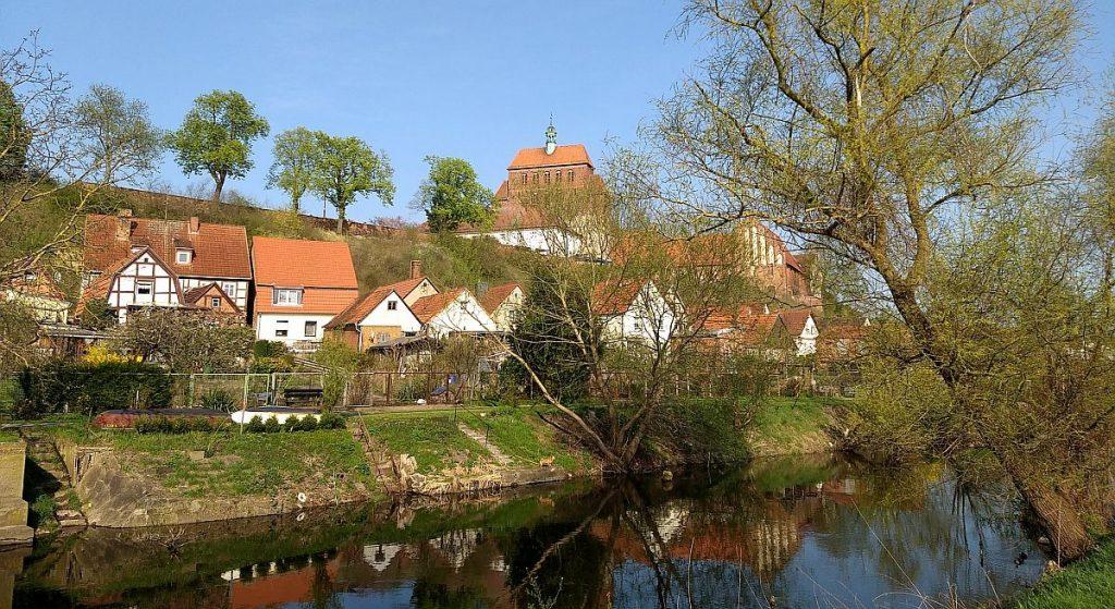 Blick zum Dom mit Klosteranlage